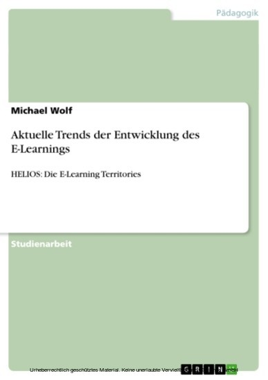 Aktuelle Trends der Entwicklung des E-Learnings - Blick ins Buch