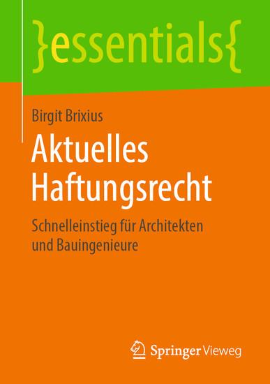 Aktuelles Haftungsrecht - Blick ins Buch