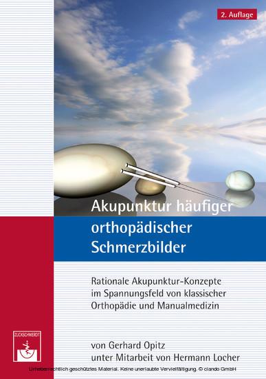 Akupunktur häufiger orthopädischer Schmerzbilder - Blick ins Buch