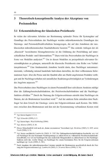 Akzeptanz von Preismodellen im Systemgeschäft - Blick ins Buch