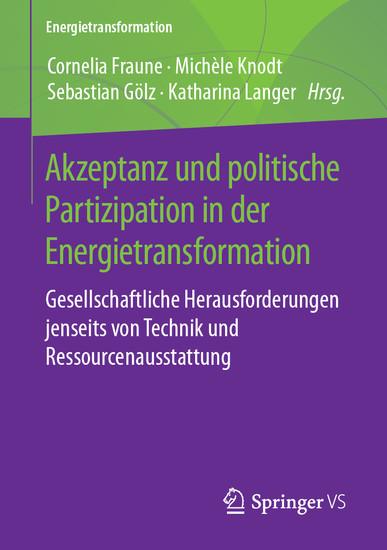 Akzeptanz und politische Partizipation in der Energietransformation - Blick ins Buch