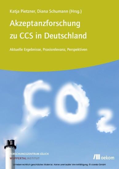 Akzeptanzforschung zu CCS in Deutschland. - Blick ins Buch