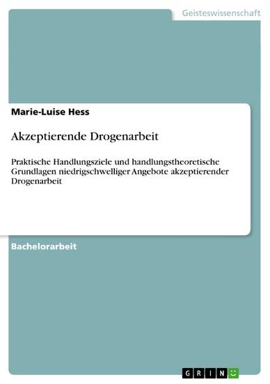 Akzeptierende Drogenarbeit - Blick ins Buch