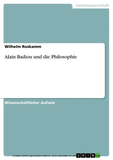 Alain Badiou und die Philosophie - Blick ins Buch