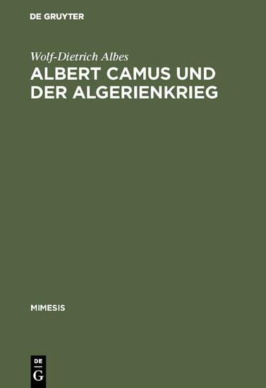 Albert Camus und der Algerienkrieg - Blick ins Buch