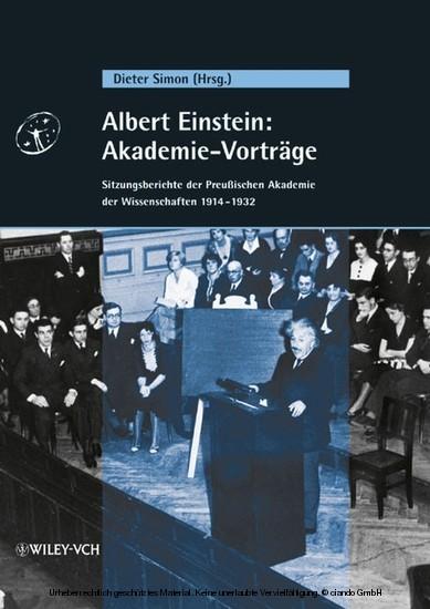 Albert Einstein: Akademie-Vorträge - Blick ins Buch