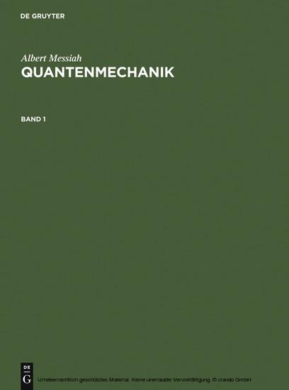 Albert Messiah: Quantenmechanik. Band 1 - Blick ins Buch