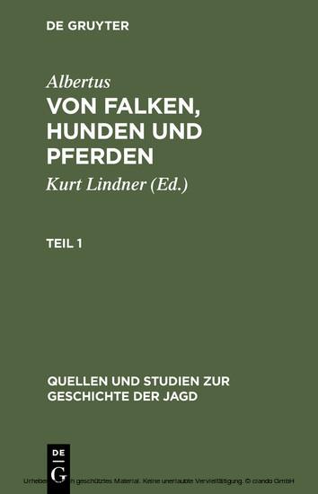 Albertus: Von Falken, Hunden und Pferden. Teil 1 - Blick ins Buch