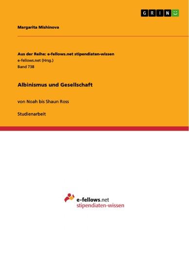 Albinismus und Gesellschaft - Blick ins Buch