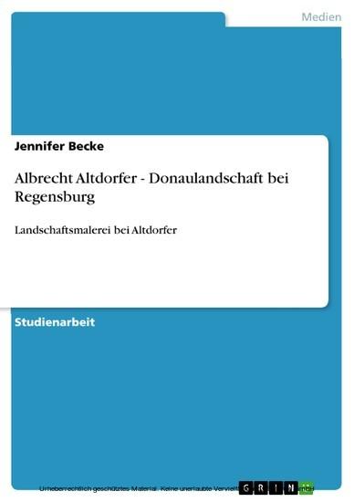 Albrecht Altdorfer - Donaulandschaft bei Regensburg - Blick ins Buch