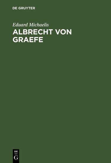 Albrecht von Graefe - Blick ins Buch