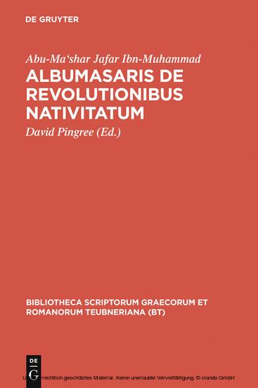 Albumasaris de revolutionibus nativitatum - Blick ins Buch