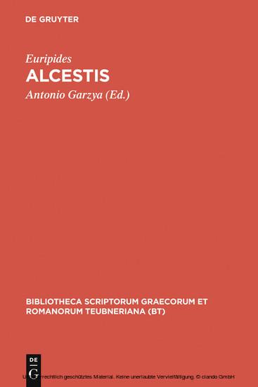 Alcestis - Blick ins Buch