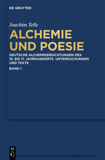 Alchemie und Poesie - Blick ins Buch