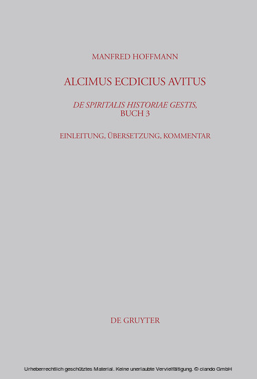 Alcimus Ecdicius Avitus, De spiritalis historiae gestis, Buch 3 - Blick ins Buch