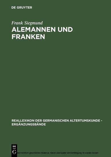 Alemannen und Franken - Blick ins Buch