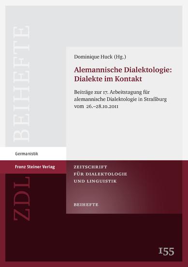Alemannische Dialektologie: Dialekte im Kontakt - Blick ins Buch