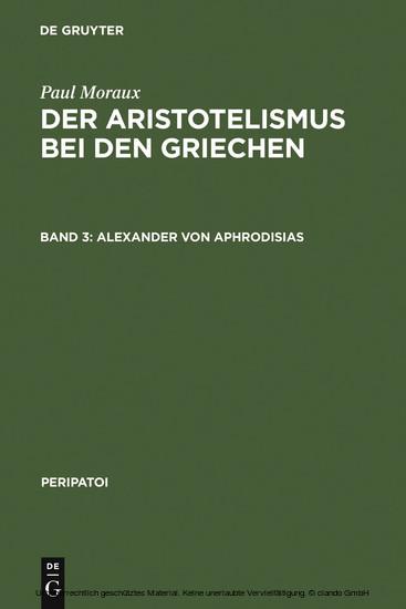 Alexander von Aphrodisias - Blick ins Buch