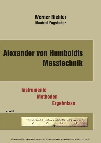 Alexander von Humboldts Messtechnik - Blick ins Buch
