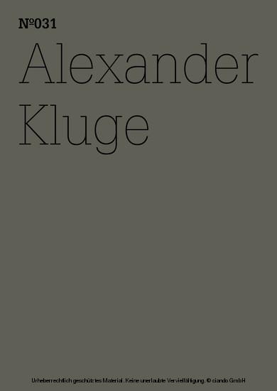 Alexander Kluge - Blick ins Buch