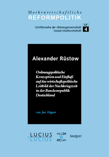 Alexander Rüstow - Blick ins Buch