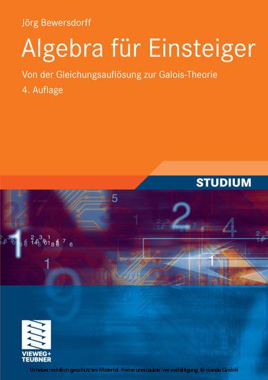 Algebra für Einsteiger - Blick ins Buch