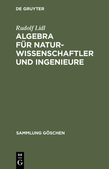 Algebra für Naturwissenschaftler und Ingenieure - Blick ins Buch