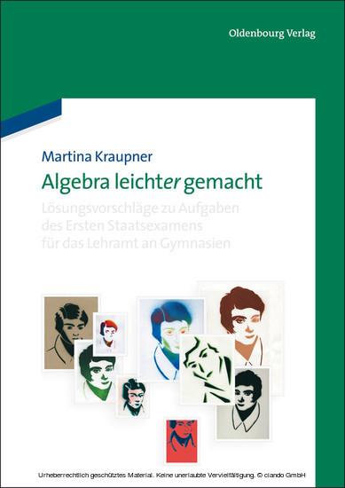 Algebra leicht(er) gemacht - Blick ins Buch
