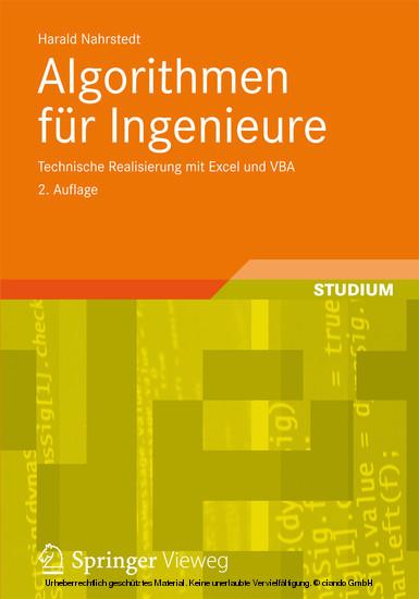Algorithmen für Ingenieure - Blick ins Buch