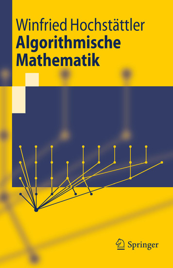 Algorithmische Mathematik - Blick ins Buch