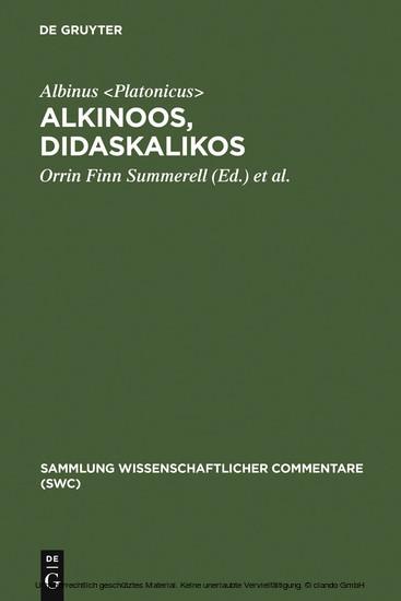 Alkinoos, Didaskalikos - Blick ins Buch