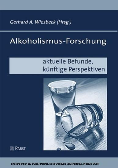 Alkoholismus-Forschung - Blick ins Buch