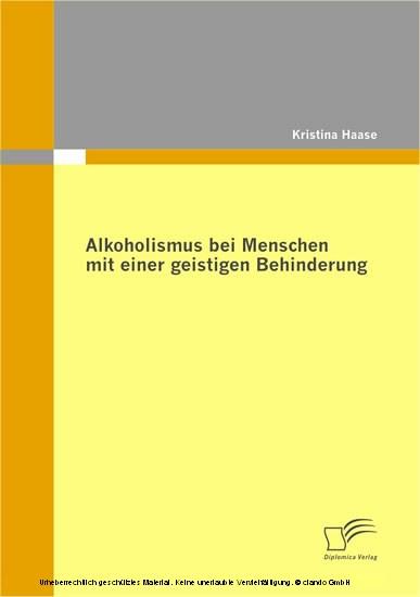 Alkoholismus bei Menschen mit einer geistigen Behinderung - Blick ins Buch