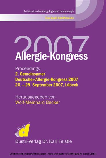 Allergie-Kongreß 2007 - Blick ins Buch