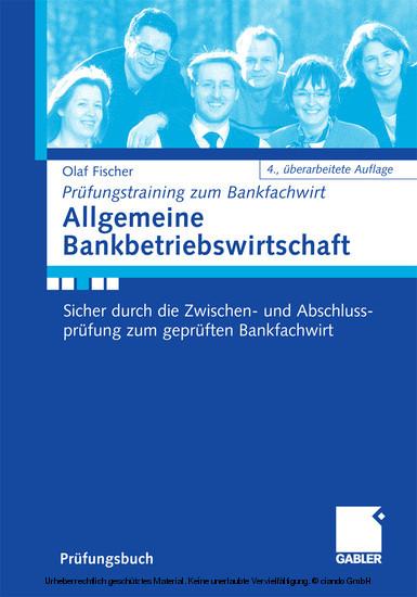Allgemeine Bankbetriebswirtschaft - Blick ins Buch