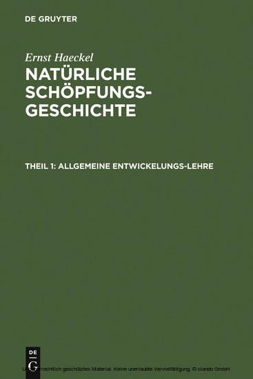 Allgemeine Entwickelungs-Lehre - Blick ins Buch
