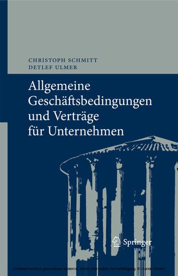 Allgemeine Geschäftsbedingungen und Verträge für Unternehmen - Blick ins Buch