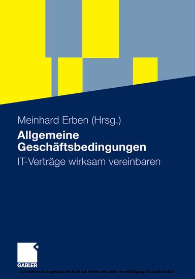 Allgemeine Geschäftsbedingungen - Blick ins Buch