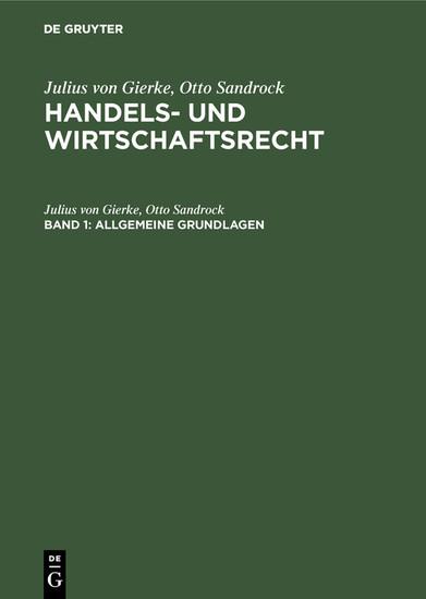 Allgemeine Grundlagen - Blick ins Buch