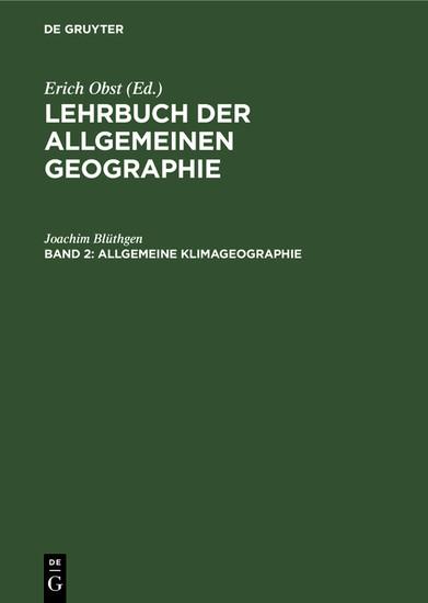 Allgemeine Klimageographie - Blick ins Buch