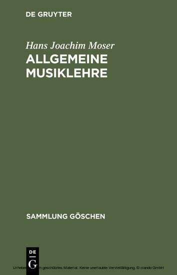 Allgemeine Musiklehre - Blick ins Buch