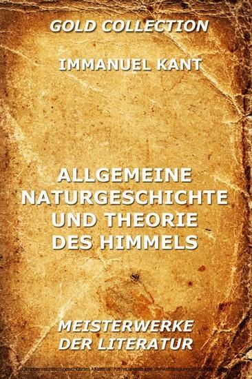 Allgemeine Naturgeschichte und Theorie des Himmels - Blick ins Buch