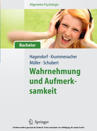 Allgemeine Psychologie für Bachelor: Wahrnehmung und Aufmerksamkeit. (Lehrbuch mit Online-Materialien) - Blick ins Buch