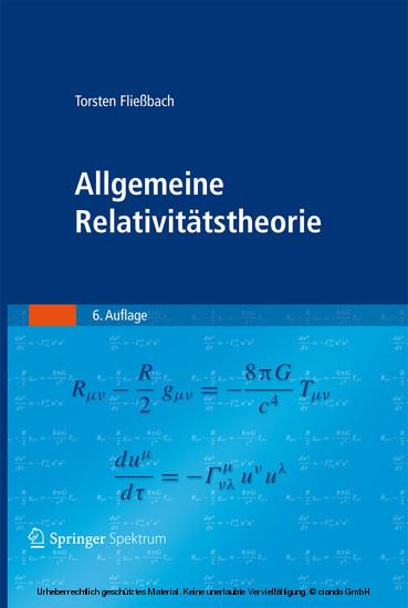 Allgemeine Relativitätstheorie - Blick ins Buch