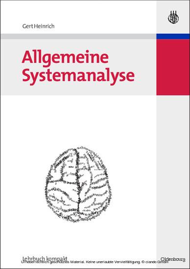 Allgemeine Systemanalyse - Blick ins Buch