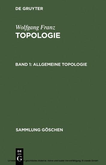 Allgemeine Topologie - Blick ins Buch
