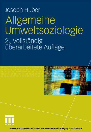 Allgemeine Umweltsoziologie - Blick ins Buch