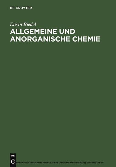 Allgemeine und anorganische Chemie - Blick ins Buch