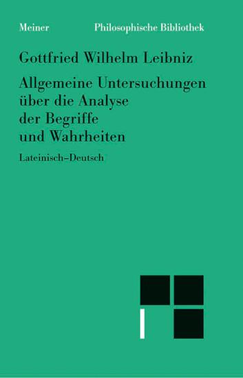 Allgemeine Untersuchungen über die Analyse der Begriffe und Wahrheiten - Blick ins Buch