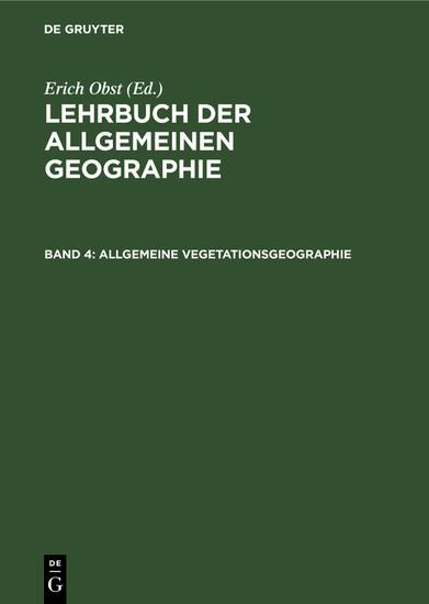Allgemeine Vegetationsgeographie - Blick ins Buch